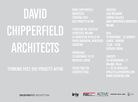 DAVID CHIPPERFIELD ARCHITECTS THINKING PAST: DUE PROGETTI AFFINI